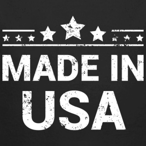 Made in USA (White Print) Babybody - Ekologisk långärmad babybody