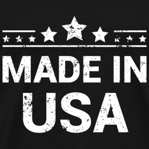 Made in USA (White Print) T-Shirts - Men's Premium T-Shirt