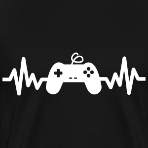 Gaming is life, geek, gamer , nerd t-shirt  - Männer Premium T-Shirt