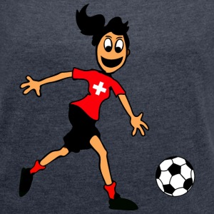 Swiss footballer T-Shirts - Women's T-shirt with rolled up sleeves