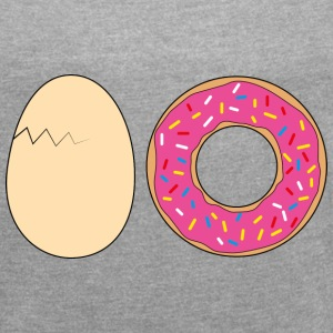 I do not (Ei Donut) T-Shirts - Frauen T-Shirt mit gerollten Ärmeln