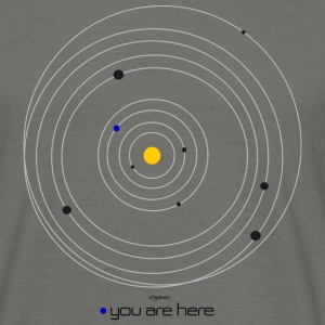 universe - you are here - Männer T-Shirt