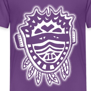 Native Mask wit VLA37 Shirts - Kinderen Premium T-shirt