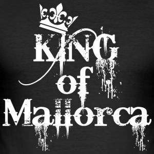King of Mallorca Party Crew König T-Shirt - Männer Slim Fit T-Shirt