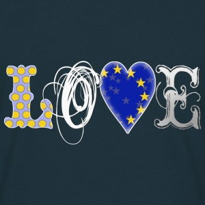 Love Europe White - Männer T-Shirt