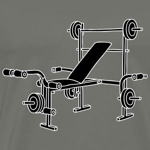 Weight bench bodybuilding 2 T-Shirts - Men's Premium T-Shirt