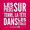 Tee shirt Femme coupe près du corps, 100% coton Nuréa TV Terre & Étoiles - White - T-shirt Femme