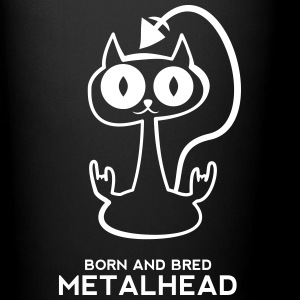 Heavy metal cat for dark backgrounds Mugs & Drinkware - Full Colour Mug