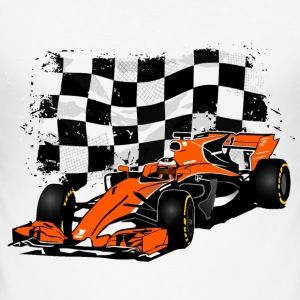Racecar - Rennauto - Racing Flag T-Shirts - Männer Slim Fit T-Shirt