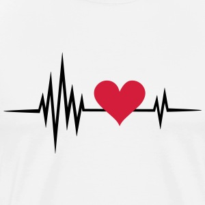 Heart rate, pulse, heartbeat, I love you, Infinity - Men's Premium T-Shirt