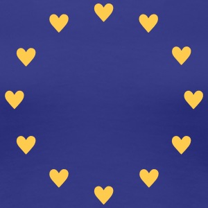 Europe Hearts, Pulse of EU, I love European Union  - Women's Premium T-Shirt