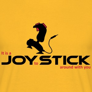 Joy to Stick around - Männer T-Shirt gelb - Männer T-Shirt