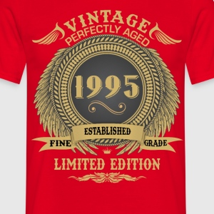 Vintage Perfectly Aged 1995 Limited Edition T-Shirts - Men's T-Shirt