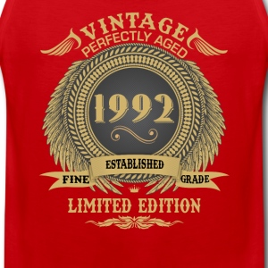 Vintage Perfectly Aged 1992 Limited Edition Sports wear - Men's Premium Tank Top