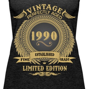 Vintage Perfectly Aged 1990 Limited Edition Tops - Women's Premium Tank Top
