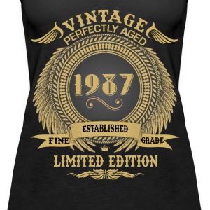 Vintage Perfectly Aged 1987 Limited Edition Tops - Women's Premium Tank Top