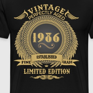 Vintage Perfectly Aged 1986 Limited Edition T-Shirts - Men's Premium T-Shirt