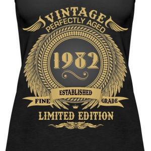 Vintage Perfectly Aged 1982 Limited Edition Tops - Women's Premium Tank Top