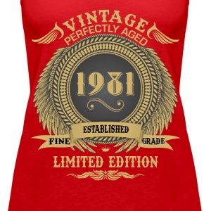 Vintage Perfectly Aged 1981 Limited Edition Tops - Women's Premium Tank Top