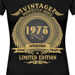 Vintage Perfectly Aged 1978 Limited Edition T-Shirts - Women's Premium T-Shirt