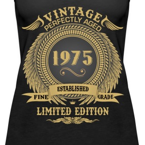 Vintage Perfectly Aged 1975 Limited Edition Tops - Women's Premium Tank Top