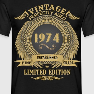 Vintage Perfectly Aged 1974 Limited Edition T-Shirts - Men's T-Shirt