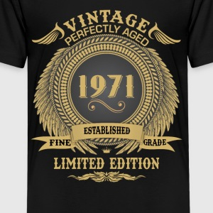 Vintage Perfectly Aged 1971 Limited Edition Shirts - Teenage Premium T-Shirt
