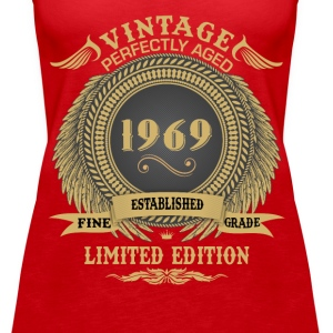 Vintage Perfectly Aged 1969 Limited Edition Tops - Women's Premium Tank Top