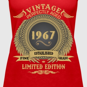 Vintage Perfectly Aged 1967 Limited Edition Tops - Women's Premium Tank Top