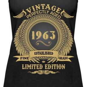 Vintage Perfectly Aged 1963 Limited Edition Tops - Women's Premium Tank Top