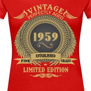 Vintage Perfectly Aged 1959 Limited Edition T-Shirts - Women's Premium T-Shirt