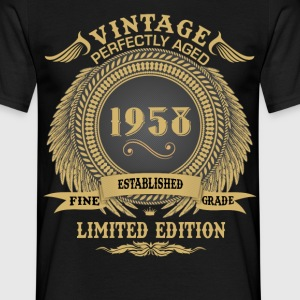 Vintage Perfectly Aged 1958 Limited Edition T-Shirts - Men's T-Shirt