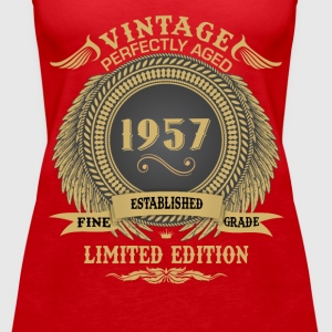 Vintage Perfectly Aged 1957 Limited Edition Tops - Women's Premium Tank Top
