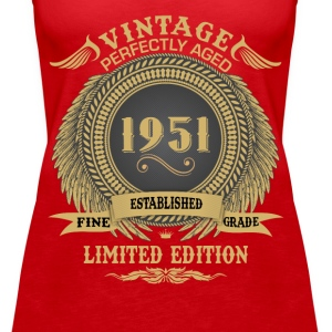 Vintage Perfectly Aged 1951 Limited Edition Tops - Women's Premium Tank Top