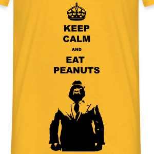 Keep calm and eat peanuts - Mannen T-shirt