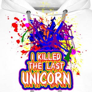 I killed the last unicorn Sweat-shirts - Sweat-shirt à capuche Premium pour hommes