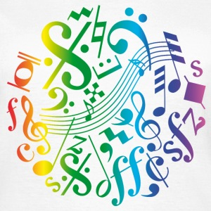 Bunte Musiknoten / Music signs T-Shirts - Frauen T-Shirt