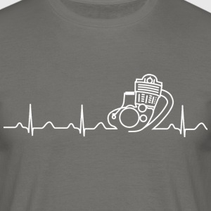 T-Shirt XT500 SR500 Heartbeat design - Männer T-Shirt