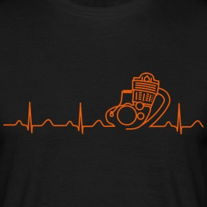 T-Shirt, SR500 XT500 Heartbeat Design - Männer T-Shirt