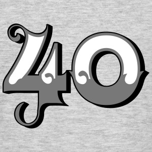 Fun Numbers 40 - 3C colorchange T-Shirts - Männer T-Shirt
