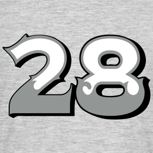 Fun Numbers 28 - 3C colorchange T-Shirts - Männer T-Shirt