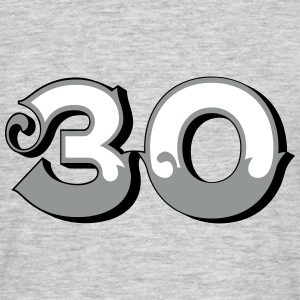 Fun Numbers 30 - 3C colorchange T-Shirts - Männer T-Shirt