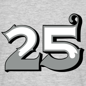 Fun Numbers 25 - 3C colorchange T-Shirts - Männer T-Shirt