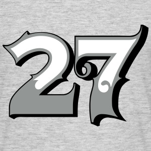 Fun Numbers 27 - 3C colorchange T-Shirts - Männer T-Shirt