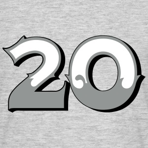Fun Numbers 20 - 3C colorchange T-Shirts - Männer T-Shirt