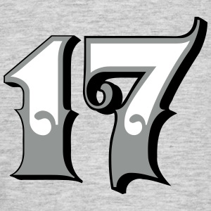 Fun Numbers 17 - 3C colorchange T-Shirts - Männer T-Shirt