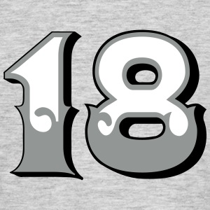 Fun Numbers 18 - 3C colorchange T-Shirts - Männer T-Shirt