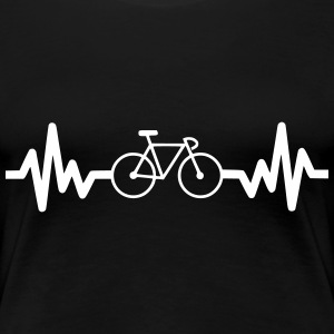 Bike is life Fahrrad t-shirt  - Frauen Premium T-Shirt