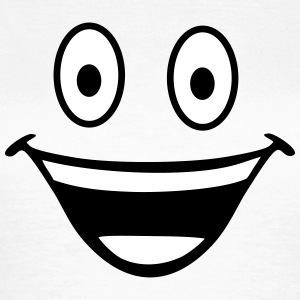 happy smiley T-shirts - Dame-T-shirt