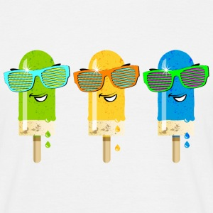 Eis am Stiel ice lolly ice cream Sommer Gelato sü - Männer T-Shirt
